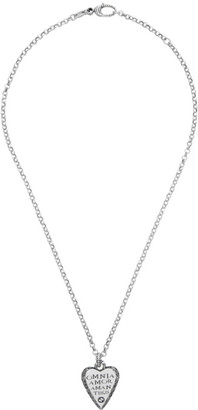 Gucci Silver Engraved Heart Necklace