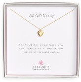 Dogeared Women's We Are Family Pendant Necklace