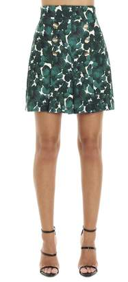 Elisabetta Franchi Floral Printed Double-Breasted Skirt