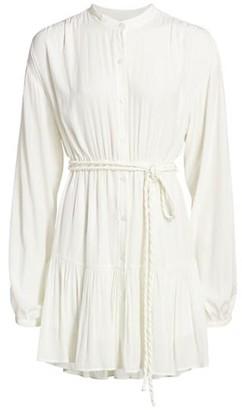 A.L.C. Jen Belted Long-Sleeve Dress