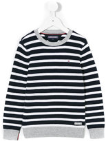Tommy Hilfiger Junior - stripped knitted jumper - kids - Cotton - 3 yrs