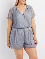 Charlotte Russe Plus Size Shimmer Surplice Romper