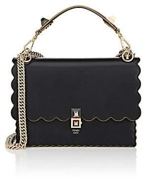 Fendi Women's Kan I Leather Shoulder Bag - Black