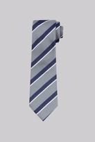 Savoy Taylors Guild Grey Stripe Silk Tie
