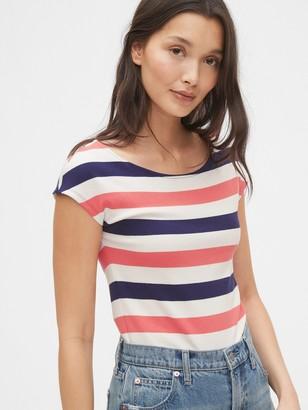 Gap Modern Boatneck Striped T-Shirt