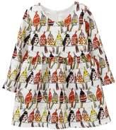 Sanlutoz Toddler Girls Bird Long Sleeve Party Princess Autumn Dresses