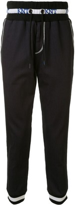 Kiton Denim Knit Track Trousers
