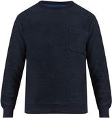Blue Blue Japan Patch-pocket cotton sweatshirt