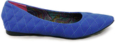 C Label Blue Quilted Paige Flat