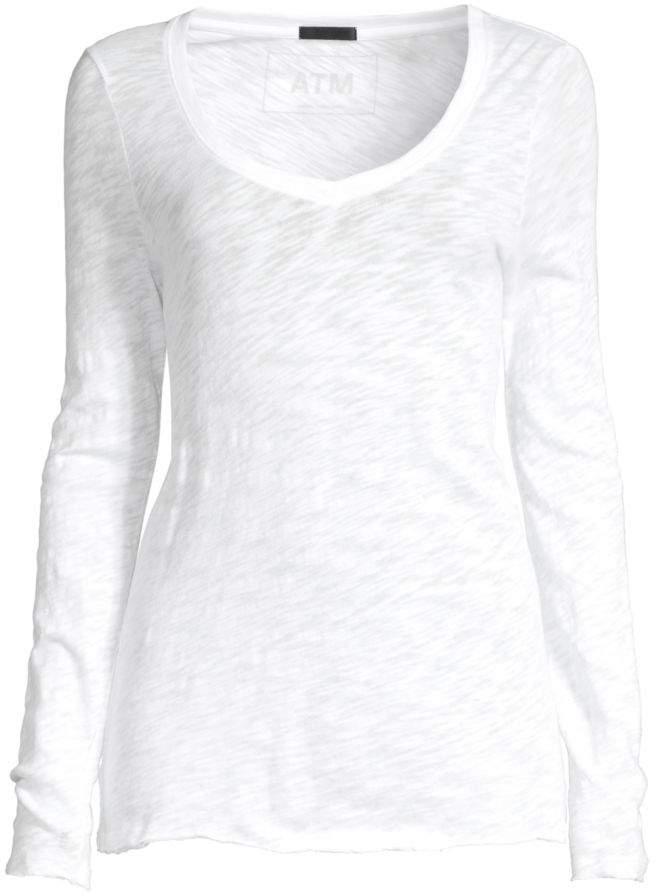 bd0d0ce6 ATM Anthony Thomas Melillo White T Shirts For Women - ShopStyle UK