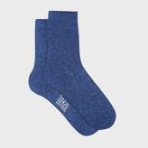 Paul Smith Women's Glittery Blue Cotton Socks