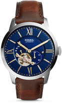 Fossil Townsman Automatic Brown Leather Watch