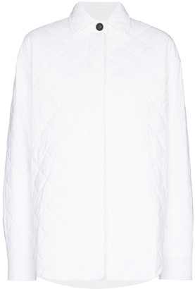 Markoo Quilted Button-Down Shirt