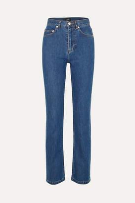 A.P.C. Standard High-rise Straight-leg Jeans - Mid denim