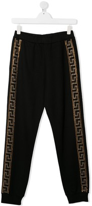 Versace TEEN elasticated logo trim leggings
