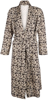 Cream Leaf Dressing Gown