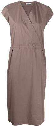 Peserico side tie detail ruched style dress