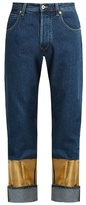 Loewe Printed-cuff straight-leg jeans