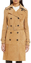 Katherine Kelly Sally Suede Doube Breasted Trench Coat