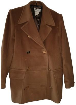 Saint Laurent Brown Cashmere Coat for Women Vintage