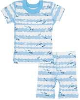 Skylar Luna Surfboard-Print Organic Cotton Pajama Set