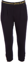 Juicy Couture Pitch Black Logo Easy-Fit Crop Pants