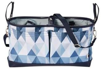 OiOi Stroller Organiser/Pram Caddy - Blue Morgan Assorted