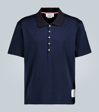 Thom Browne Cotton short-sleeved polo shirt
