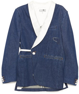 MM6 MAISON MARGIELA Distressed Denim Blazer