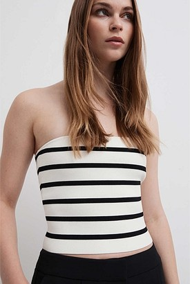 Witchery Stripe Knit Bandeau