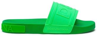Dolce & Gabbana Logo-Embossed Slides