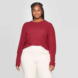A New Day Women's Plus Size Long Sleeve Crewneck T-Shirt