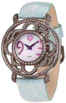 Brillier Women's 04-71727-11 Papillon Swiss-Quartz Mother-Of-Pearl Watch