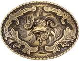 Sam Store Vintage Goat Belt Buckle Western Cowboy Native American Motorcyclist (HGT-01)