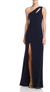 Aqua One-Shoulder Cutout Gown - 100% Exclusive
