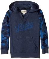 Lucky Brand Kids Long Sleeve V-Neck Camo Hoodie (Little Kids/Big Kids)