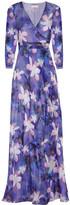 Matthew Williamson Printed silk-chiffon wrap gown