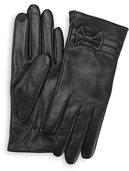 ROYCE New York Lambskin Leather Tech Gloves