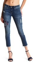 Seven7 Embroidered Patch Ankle Skinny Jeans