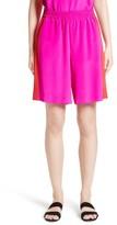 St. John Women's Silk Crepe De Chine Contrast Side Shorts