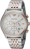 Emporio Armani Men's 'Zeta' Quartz Stainless Steel Automatic Watch, Color:Silver-Toned (Model: AR1998)