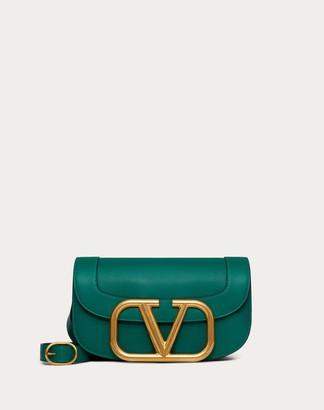 Valentino Supervee Calfskin Crossbody Bag Women Optic White Calfskin 100% OneSize
