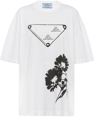 Prada floral print oversized T-shirt