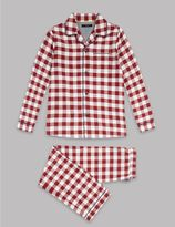 Marks and Spencer Pure Cotton Gingham Pyjamas (1-16 Years)