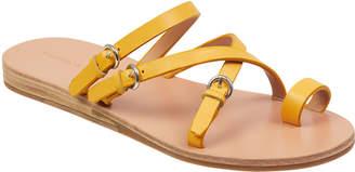 Sigerson Morrison Kaley Polished Leather Strappy Sandals