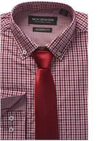 Nick Graham 2Pc Modern Fit Dress Shirt & Tie Set