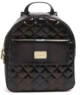 Love Moschino Quilted Snake Embossed Backpack