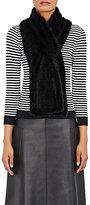 Barneys New York Women's Knitted-Mink Pull-Through Scarf-BLACK