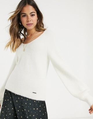 Abercrombie & Fitch eyelash knit slim v-neck sweater