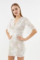 Coast V Neck Lace Shift Dress